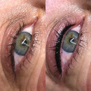 eyeliner before v after